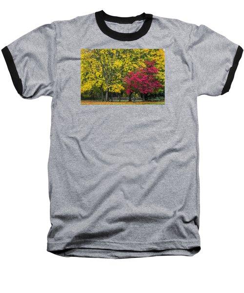 Autumn's Peak Baseball T-Shirt by Jeremy Lavender Photography