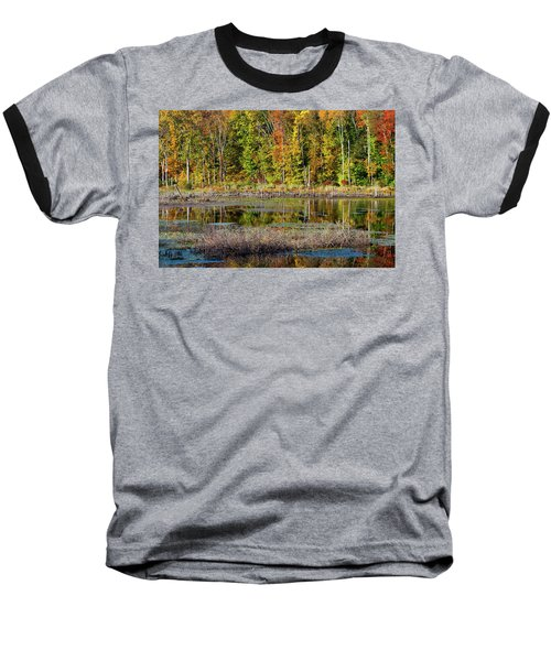 Baseball T-Shirt featuring the photograph Autumns Quiet Moment by Karol Livote