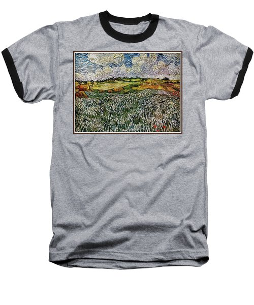 Baseball T-Shirt featuring the painting Landscape Auvers28 by Pemaro