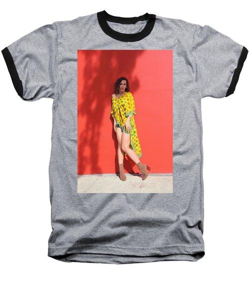 Ava Milva Standing Baseball T-Shirt