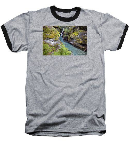 Avalanche Gorge In Glacier National Park Baseball T-Shirt