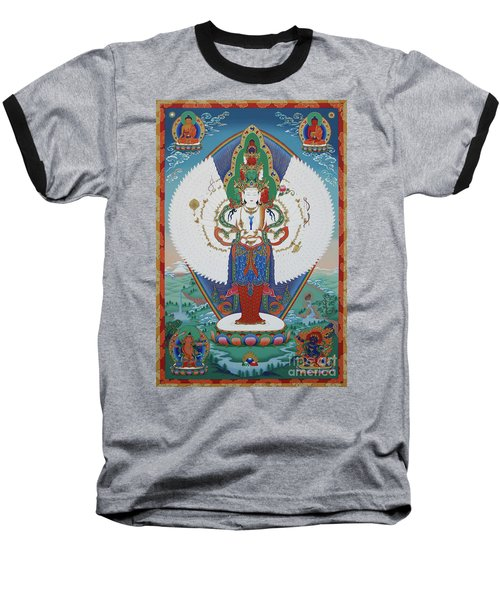 Avalokiteshvara Lord Of Compassion Baseball T-Shirt