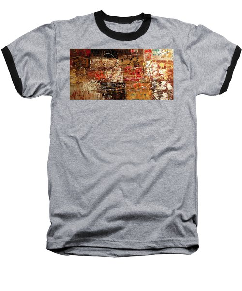 Baseball T-Shirt featuring the painting Avant Garde by Carmen Guedez