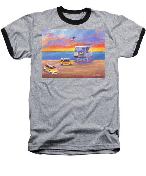 Baseball T-Shirt featuring the painting Avenue C by Jamie Frier