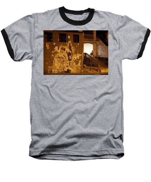 Baseball T-Shirt featuring the photograph Avenue De Los Presidentes Havana Cuba by Charles Harden