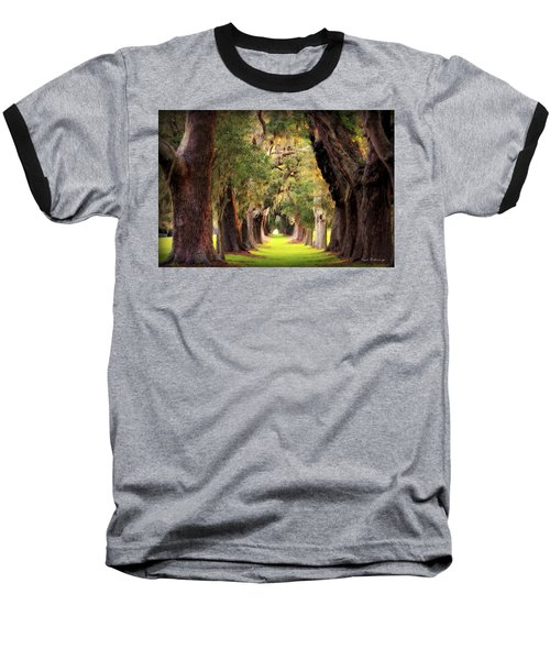 Avenue Of Oaks Sea Island Golf Club St Simons Island Georgia Art Baseball T-Shirt