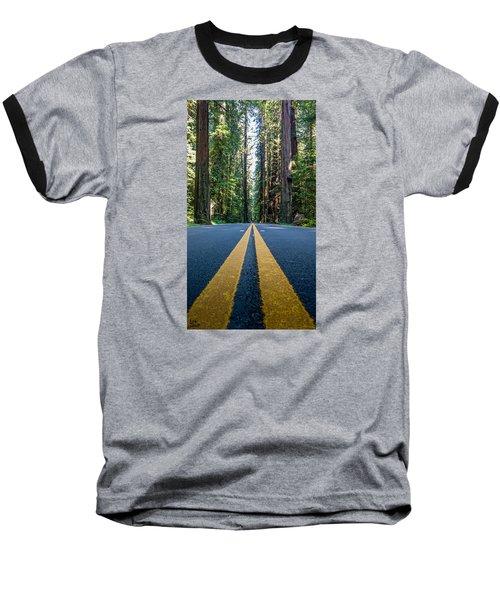 Avenue Of The Giants Baseball T-Shirt by Alpha Wanderlust