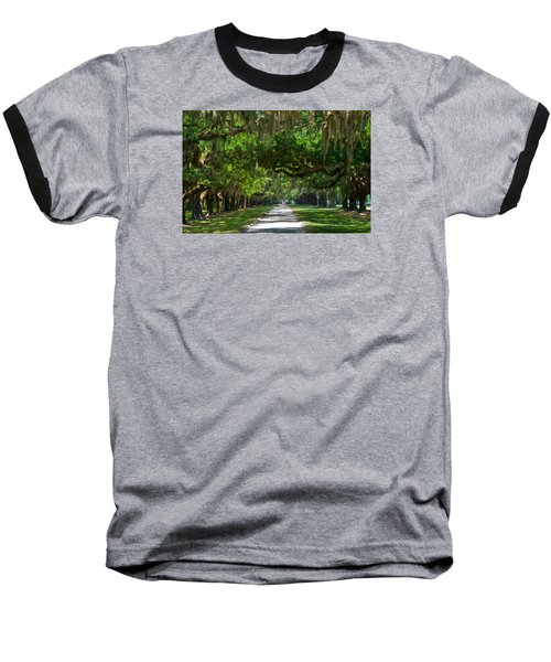 Avenue Of The Oaks At Boonville Plantation Baseball T-Shirt
