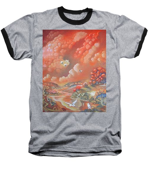 Avian Landscape Baseball T-Shirt