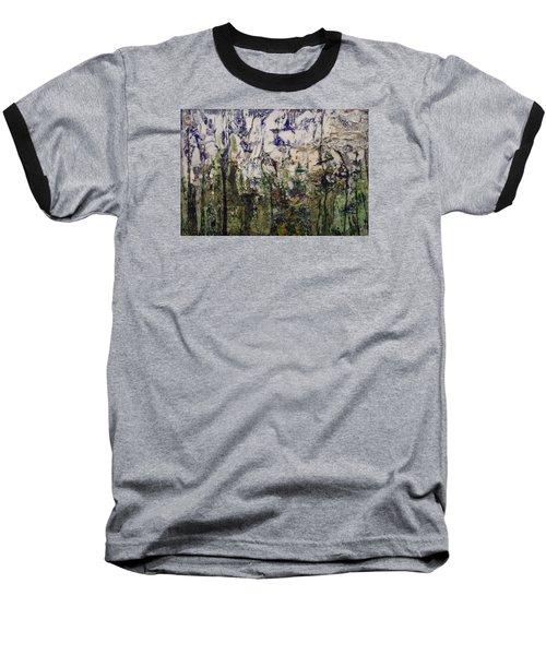Baseball T-Shirt featuring the painting Aviary by Ron Richard Baviello