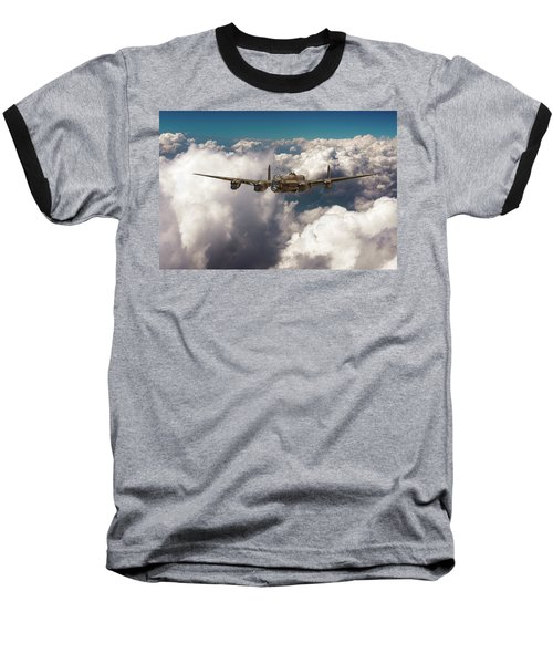 Baseball T-Shirt featuring the photograph Avro Lancaster Above Clouds by Gary Eason