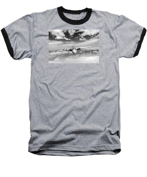 Baseball T-Shirt featuring the digital art Avro Vulcan Head On Above Clouds by Gary Eason