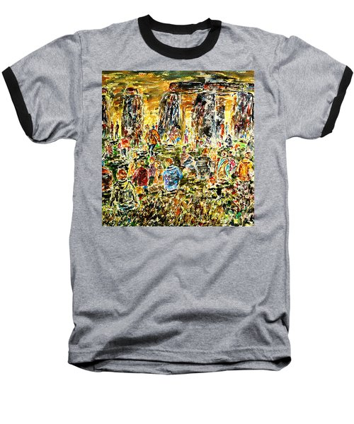Baseball T-Shirt featuring the painting Awaiting The Sun by Alfred Motzer