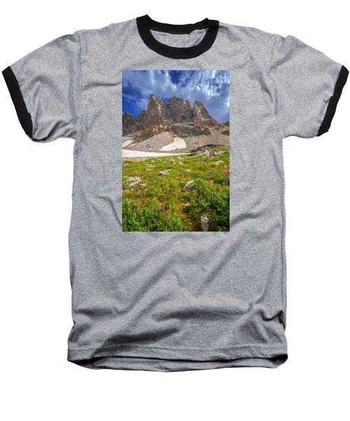 Awe Inspring Grand Teton Landscape Baseball T-Shirt by Serge Skiba