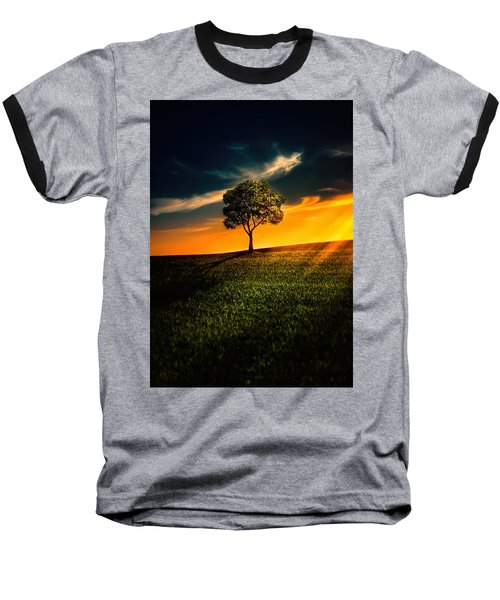 Awesome Solitude II Baseball T-Shirt by Bess Hamiti