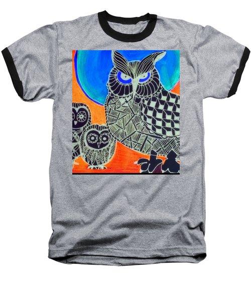 Awls Are Cool Baseball T-Shirt by Sandra Lira