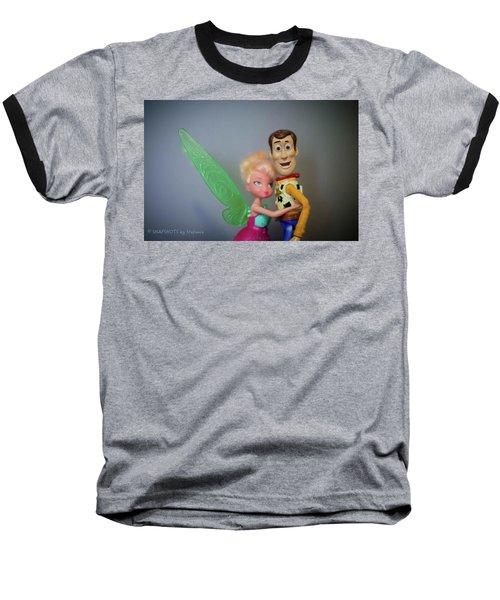 Awww Tink Baseball T-Shirt by Stefanie Silva