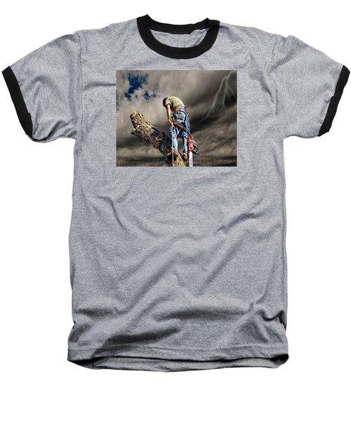 Ax Man Baseball T-Shirt by Mark Allen