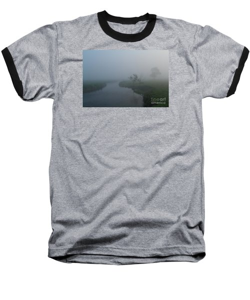 Baseball T-Shirt featuring the photograph Axe In The Mist by Gary Bridger
