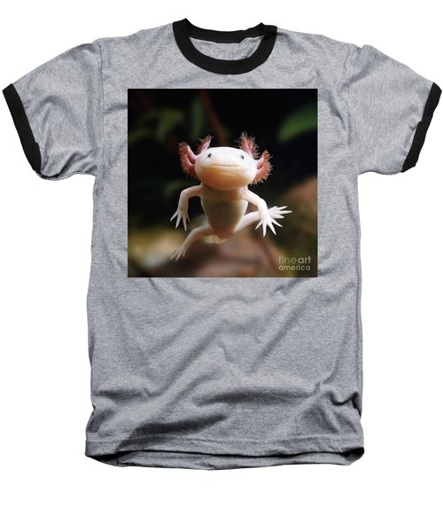 Axolotl Face Baseball T-Shirt