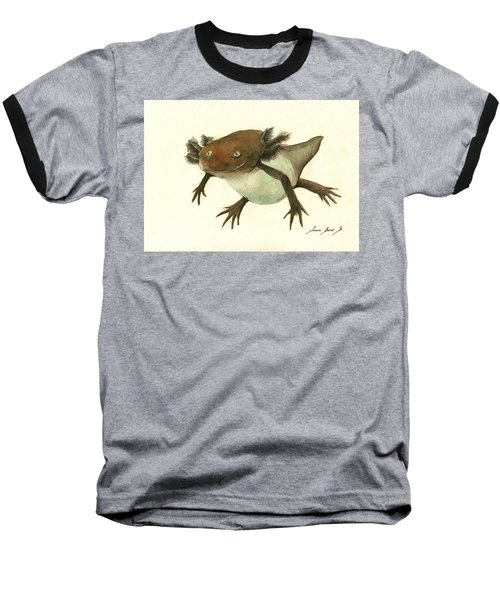 Axolotl Baseball T-Shirt by Juan Bosco