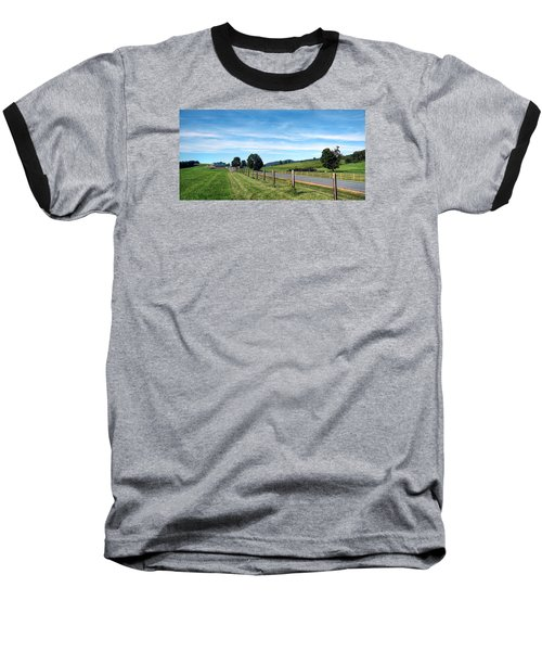 Ayrhill Farm Panoramic - The Berkshires Baseball T-Shirt