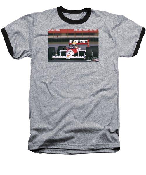 Ayrton Senna. 1988 Mexican Grand Prix Baseball T-Shirt