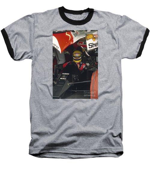Ayrton Senna. 1990 Italian Grand Prix Baseball T-Shirt