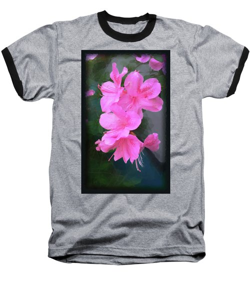 Baseball T-Shirt featuring the digital art Azalea Spray by Ginny Schmidt