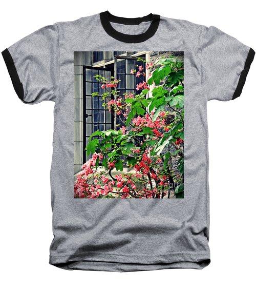 Azaleas At The Window   Baseball T-Shirt by Sarah Loft