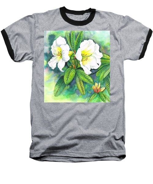 Baseball T-Shirt featuring the painting Azaleas by Val Stokes
