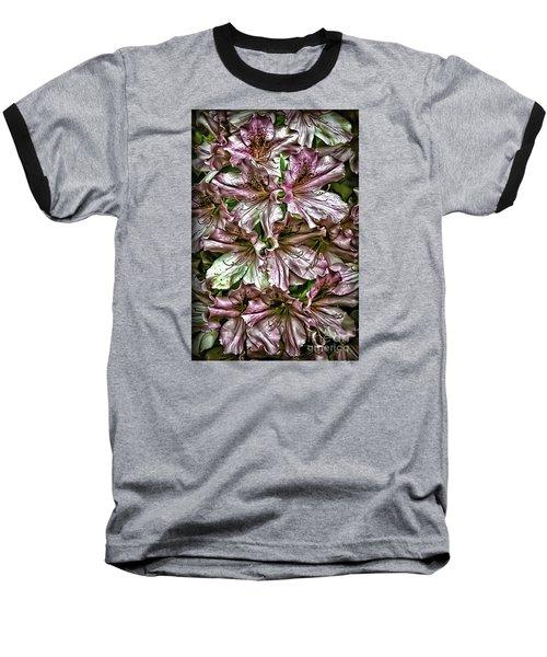 Azaleas Baseball T-Shirt by Walt Foegelle