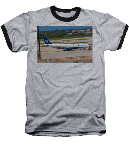 Azul Barzillian Airline Baseball T-Shirt