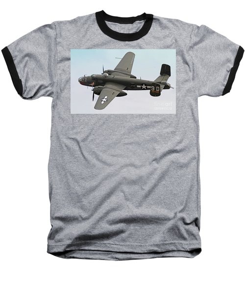 B-25 Mitchell Bomber Aircraft Baseball T-Shirt