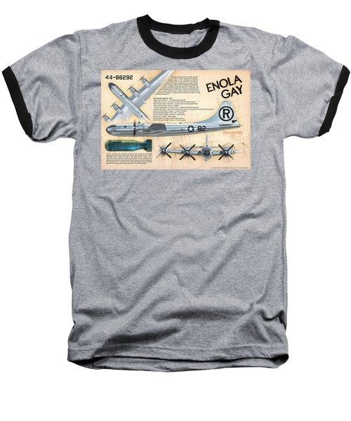 B-29 Enola Gay  Baseball T-Shirt by David Collins