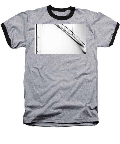 B And W Stairs Baseball T-Shirt