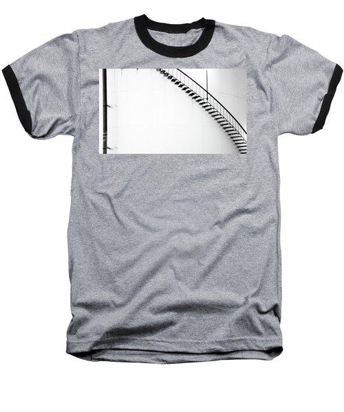 B And W Stairs Baseball T-Shirt