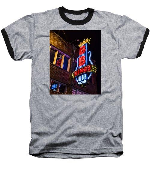 B B Kings On Beale Street Baseball T-Shirt by Stephen Stookey