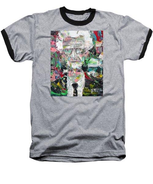 B. F. Skinner Portrait Baseball T-Shirt by Fabrizio Cassetta
