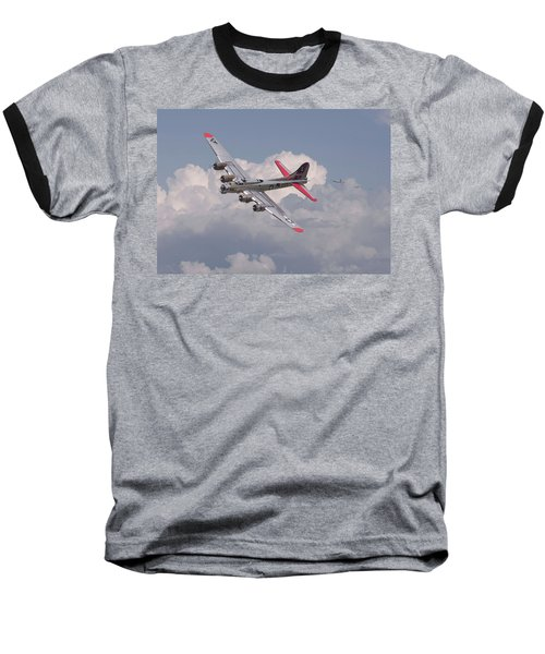 Baseball T-Shirt featuring the photograph B17 - The Last Lap by Pat Speirs