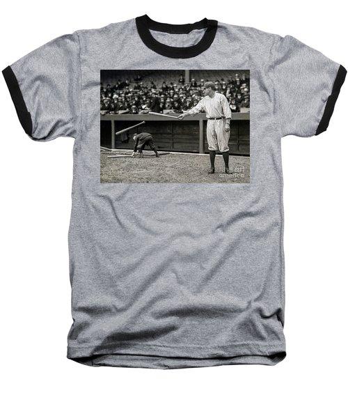 Babe Ruth At Bat Baseball T-Shirt