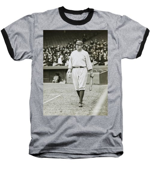 Babe Ruth Going To Bat Baseball T-Shirt
