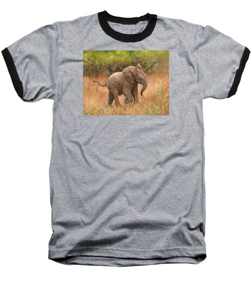 Baby African Elelphant Baseball T-Shirt