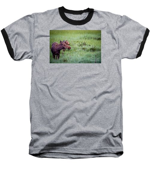 Baseball T-Shirt featuring the photograph Baby And Me by Sandy Molinaro