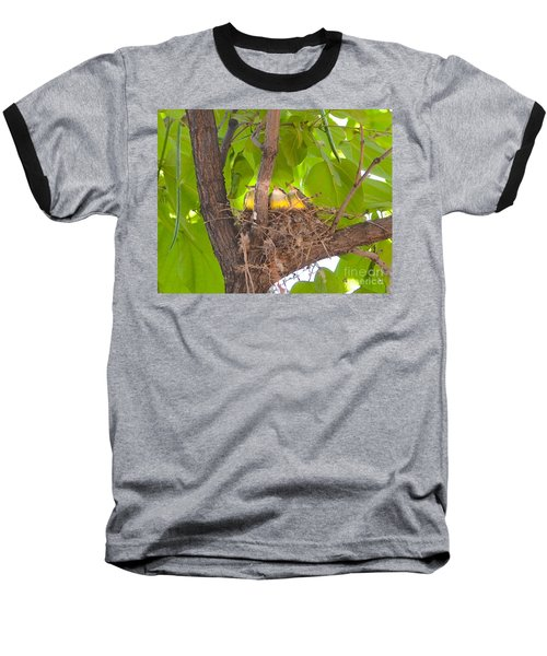 Baby Birds Waiting For Mom Baseball T-Shirt