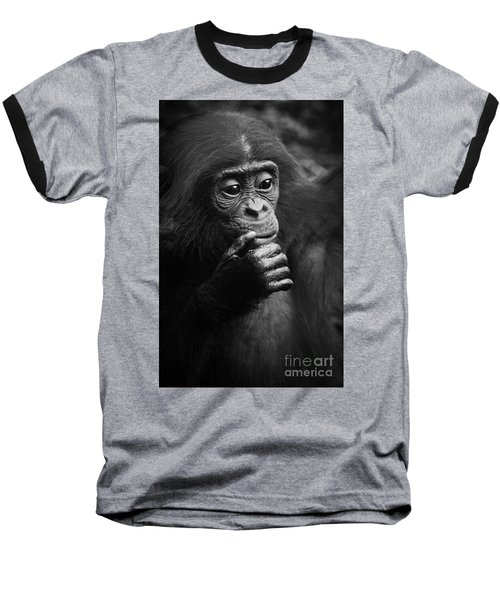 Baseball T-Shirt featuring the photograph Baby Bonobo by Helga Koehrer-Wagner