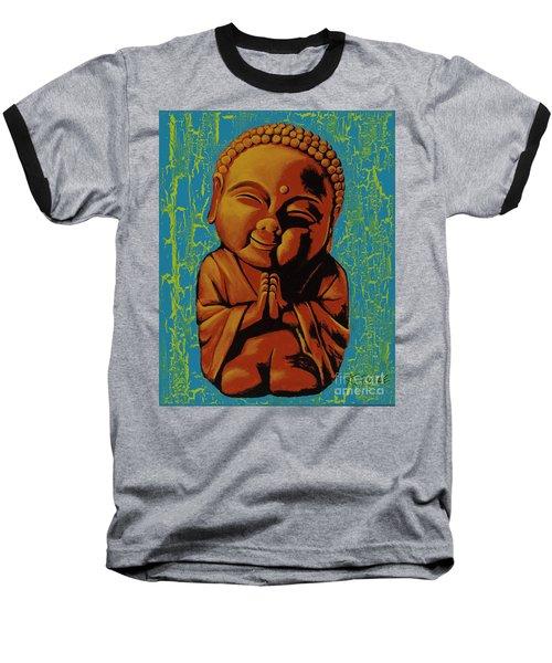 Baby Buddha Baseball T-Shirt by Ashley Price