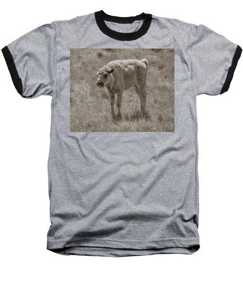 Baseball T-Shirt featuring the photograph Baby Buffalo by Rebecca Margraf
