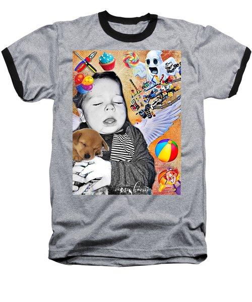 Baby Dreams Baseball T-Shirt by Vennie Kocsis