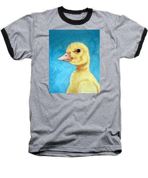 Baby Duck - Spring Duckling Baseball T-Shirt by Linda Apple